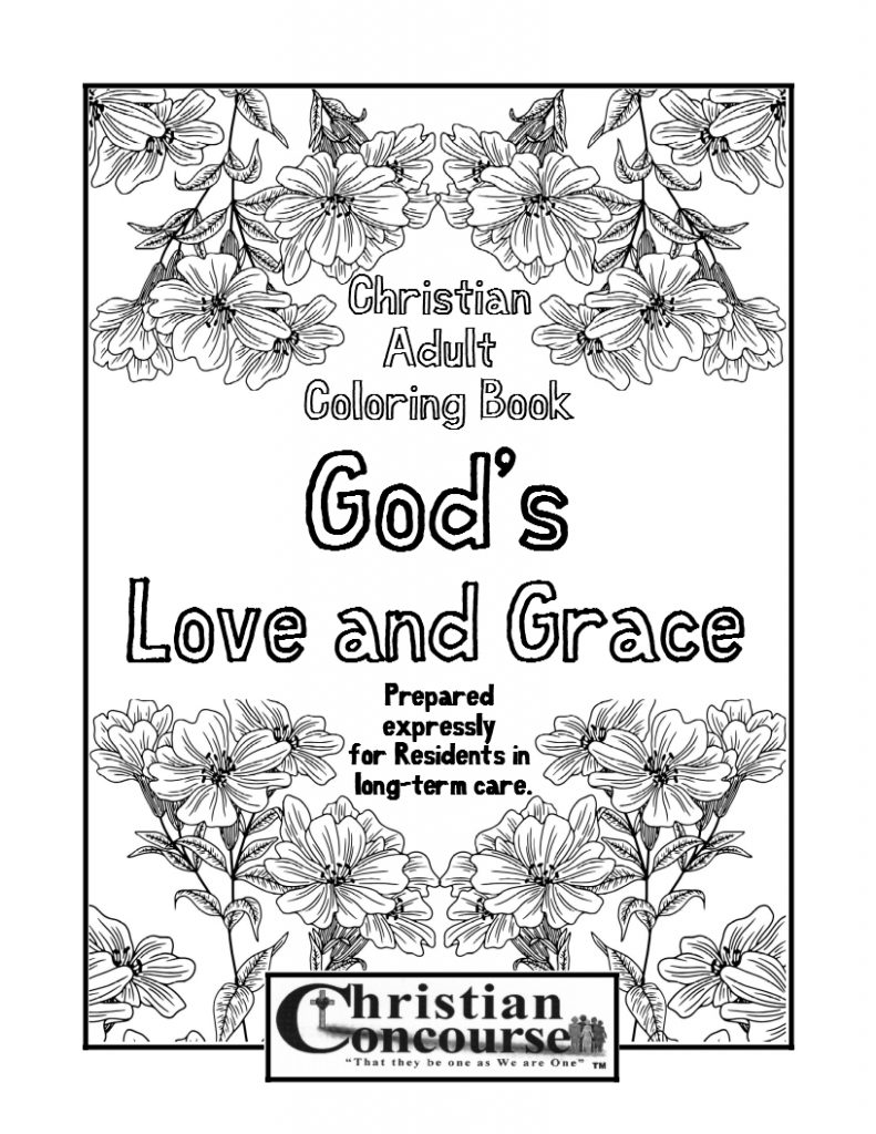God's Love and Grace - Christian Adult Coloring Book